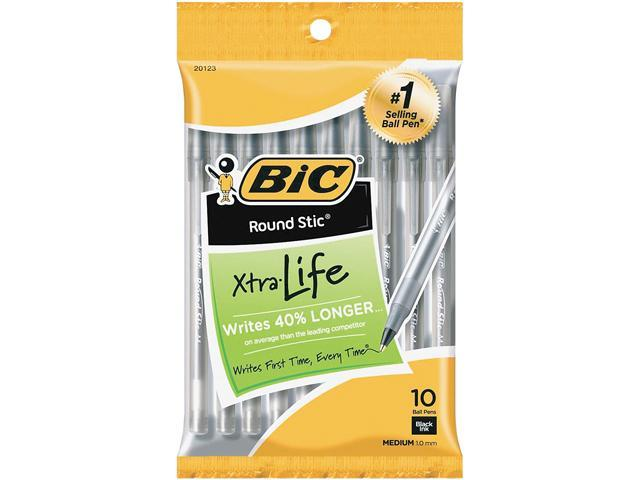 BIC GSMP101BK 10-pack Round Stic Ballpoint Pens