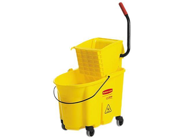 Rubbermaid Commercial 758088YW Wavebrake 35 Quart Bucket/Wringer Combinations, Yellow