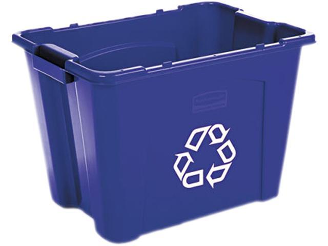 Rubbermaid Commercial 571473 BLUE Stacking Recycle Bin