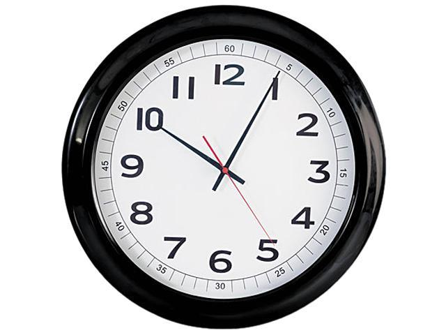 universal unv10416 round wall clock 18in black