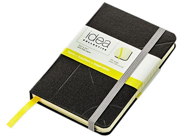 Tops 56874 Idea Collective Journal, Mini, 5-1/2 in x 3-1/2 in, Wide rule, Black, Cream Paper