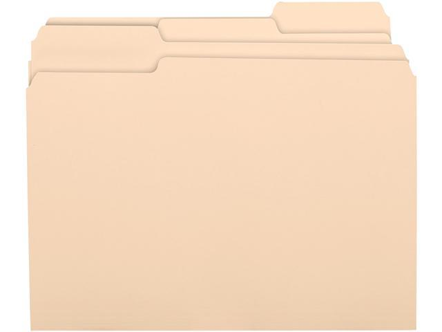 Business Source 17525 1/3 Cut Recycled Top Tab File Folder - 8.50