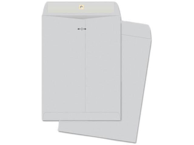 Business Source 04420 Gummed Flap Clasp Envelope, 28lb., 9 in.x12 in., 100/BX, Gray