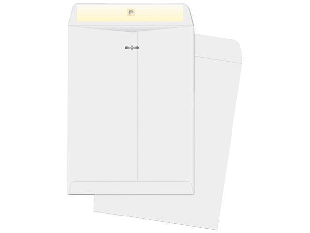 Business Source 04422 Double-prong Clasp Envelope, 28lb, 9 x 12, White, Sold 100/Box