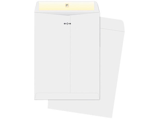 Business Source 04423 Double-prong Clasp Envelope, 28lb, 10 x 13, White, Sold 100/Box