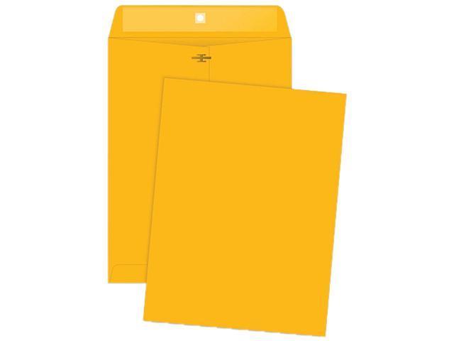 Business Source 04424 Rugged Kraft Clasp Envelope, 32lb, 9 x 12, Brown Kraft, Sold 100/Box