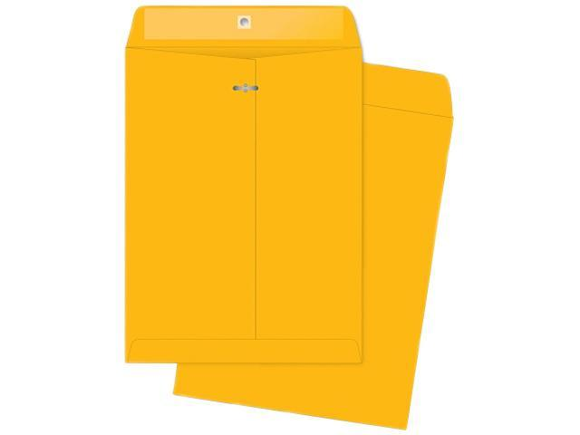 Business Source 04426 Rugged Kraft Clasp Envelope, Heavy-Duty 32lb, 10 in.x13 in., 100/BX, Brown Kraft