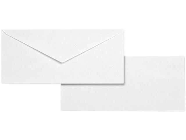 Business Source 04467 Business Envelope, #10, 28lb, White Wove, 500/Box