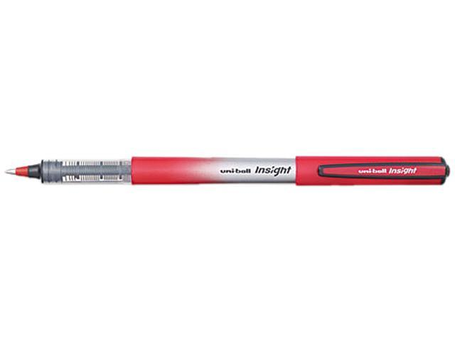 Uni-Ball Rollerball Pen 0.7 mm Pen Point Size - Red Ink - Red, Silver Barrel - 1 Each