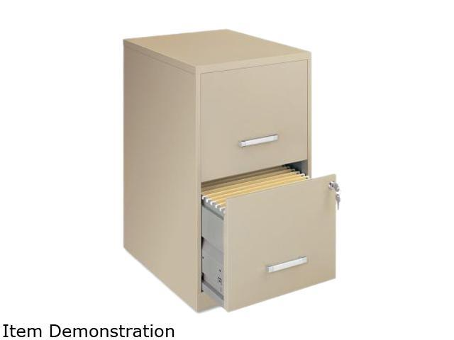"Lorell LLR14340 SOHO 18"" 2-Drawer File Cabinet (Putty)"