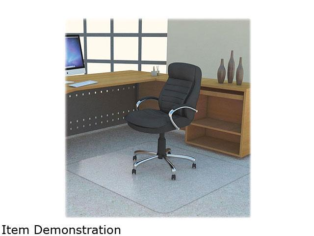 Lorell Polycarbonate Rectangular Studded Chair Mat Carpeted Floor - 53