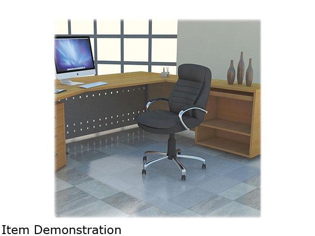 Lorell Rectangular Chairmat w/ot Lip Hard Floor, Vinyl Floor, Tile Floor, Wood Floor - 53