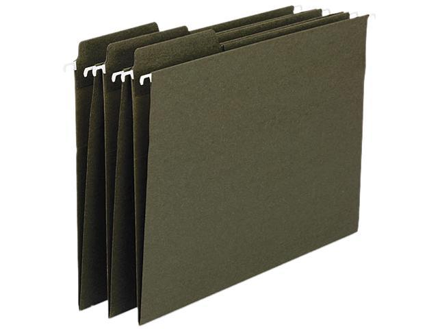 Smead 64137 Standard Green 100% Recycled FasTab Hanging Folder - 8.50