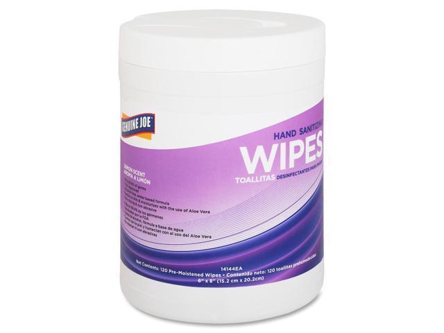 Genuine Joe Lemon Scent Hand Sanitizing Wipes