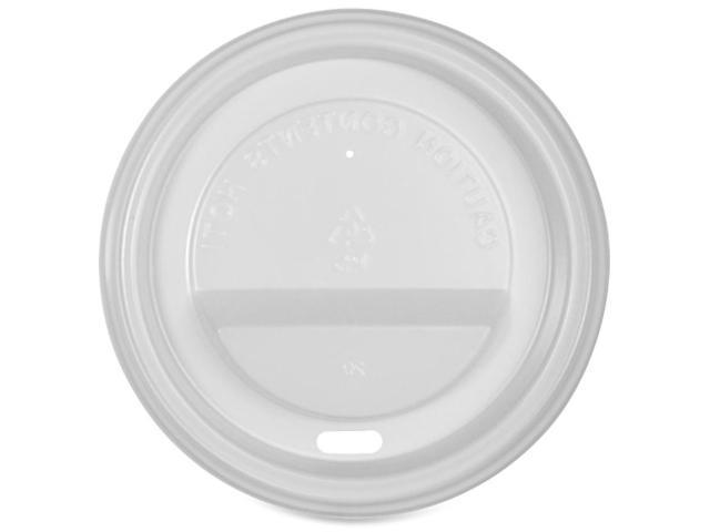 Genuine Joe 11259PK Protective Hot Cup Lids Polystyrene - 50 / Pack - White