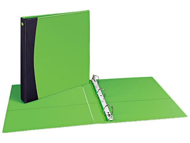 "Avery 17410 Comfort Touch Durable View Binder With EZ-Turn Ring, 1-1/2"" Capacity, Green"