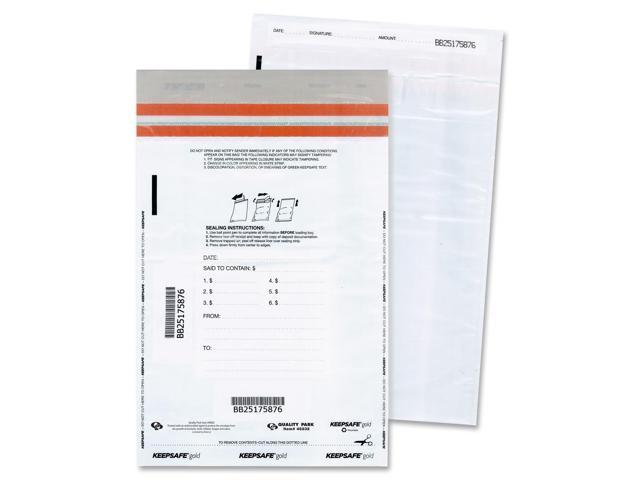 Quality Park 45232 Tamper-Evident Deposit Bags, 12 x 16, White, 100 per Pack