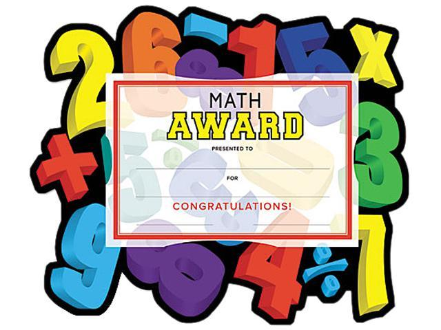 "Southworth MAK3 Motivations Numbers ""Math"" Certificate Award Kit and Holder, 8.5 X 5.5, 10/pk"