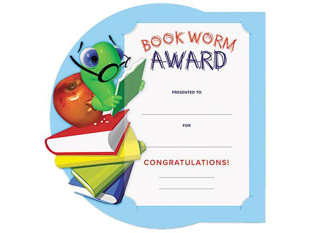 Southworth MAK2 Motivations Bookworm Certificate Award Kit and Holder, 8.5 X 5.5, 10/pk