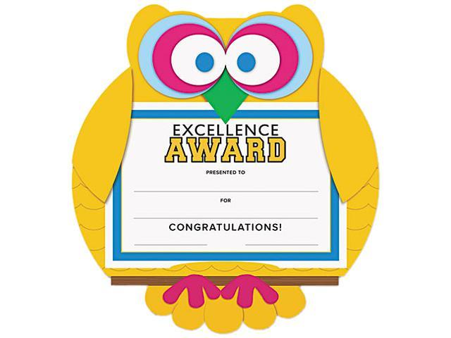 "Southworth MAK1 Motivations Owl ""Excellence"" Certificate Award Kit & Holder, 8.5 X 5.5, 10/pk"