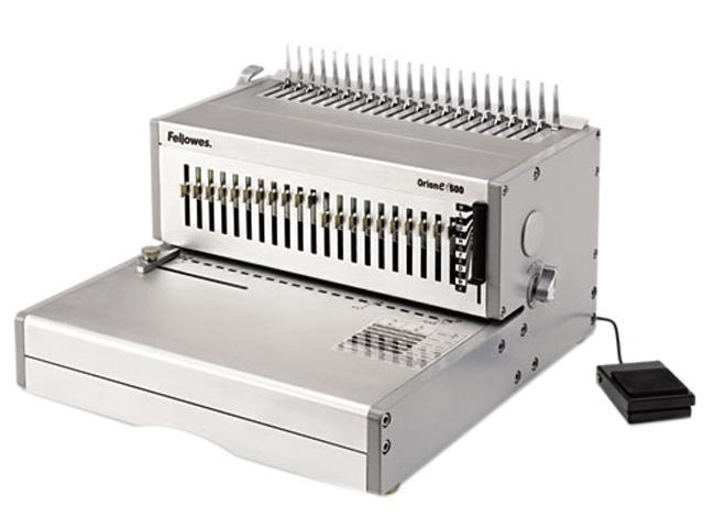 5643201 Fellowes Orion E 500 Electric Comb Binding Machine, 500 Shts, 15-3/4 x 19-3/4 x 9-3/4, GY