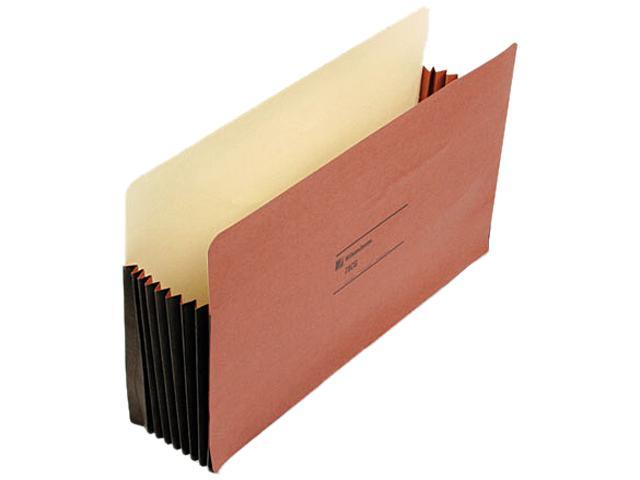 Wilson Jones 78CG Seven Inch Expansion File Pocket, Straight, Legal, Redrope, 10/Box