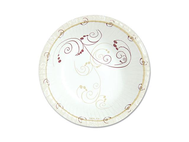 "SOLO Cup Company PL86-J8001PK Symphony Paper Dinnerware, Heavyweight Platter, 6"" x 8"", Tan, 125/Pack"
