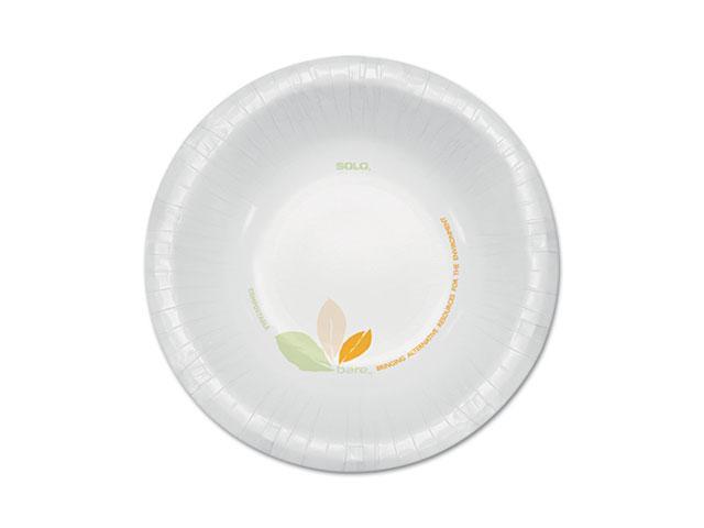 SOLO Cup Company OFHW12-J7234 Bare Paper Dinnerware, 12 oz. Bowl, Green/Tan, 500/Carton