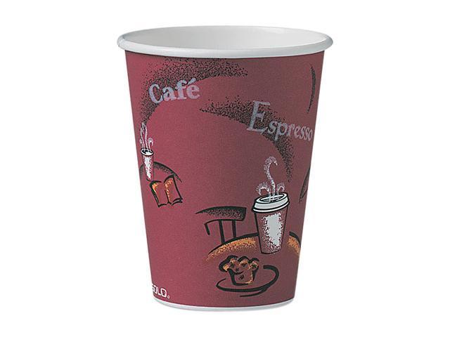 SOLO Cup Company OF12BI-0041 Bistro Design Hot Drink Cups, Paper, 12 oz., 300/Carton