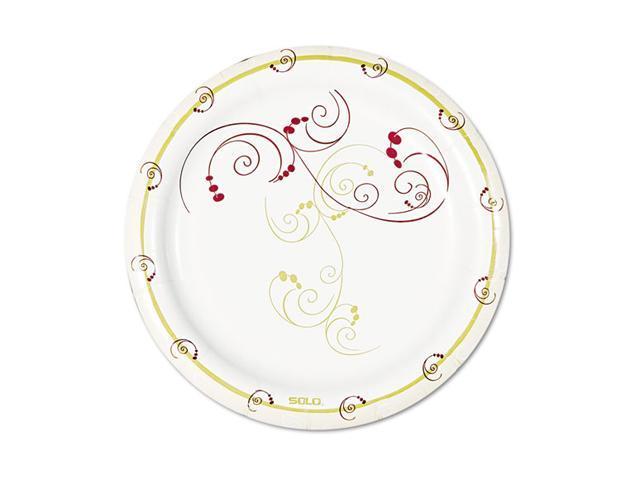 "SOLO Cup Company MP6J8001CT Symphony Paper Dinnerware, Mediumweight Plate, 6"", Tan, 1000 per Carton"