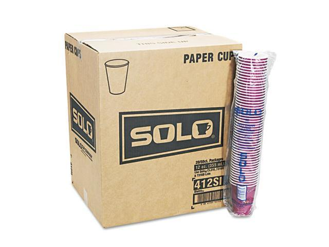 SOLO Cup Company 412SINPK Bistro Design Hot Drink Cups, Paper, 12 oz., Maroon, 50/Pack