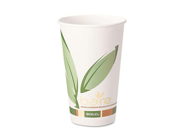 SOLO Cup Company 412RCN Bare EcoForward Recycled Content PCF Hot Cups, 12 oz., 1000/Carton
