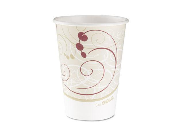SOLO Cup Company 378SMJ8000PK Hot Cups, Symphony Design, 8 oz, Beige, 50/Pack