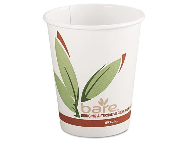 SOLO Cup Company 378RC Bare EcoForward Recycled Content PCF Hot Cups, 8 oz., 1000/Carton