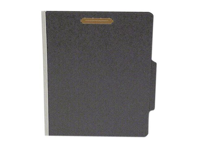 S J Paper S62626 Classifcation Folder, Two Dividers, Letter, Black/Dove Gray, 15/Box