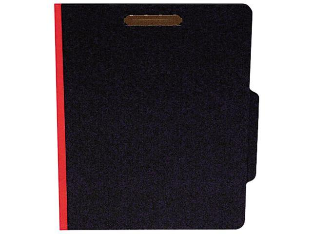 S J Paper S62621 Classifcation Folder, Two Dividers, Letter, Black/Red, 15/Box