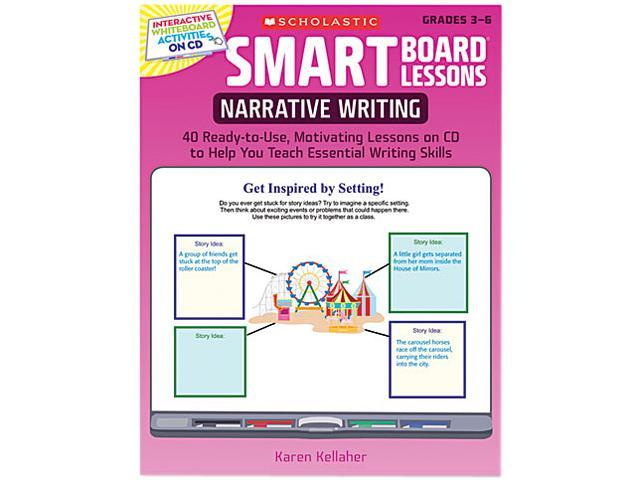 Scholastic 0545140269 SMART Board Lessons with CD, Writing, Grades 3-6, 48 pages