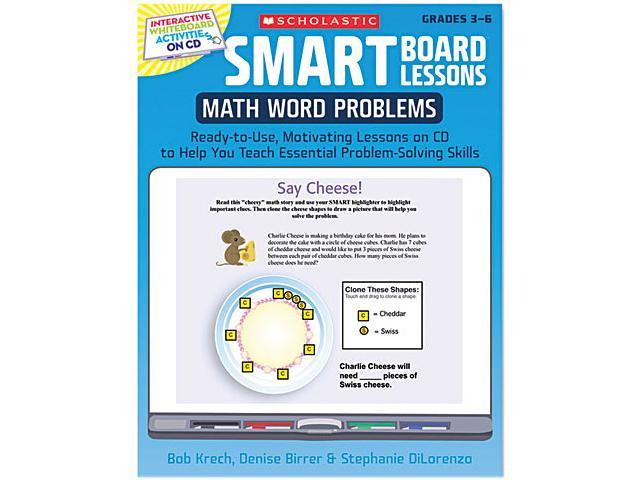Scholastic 0545140242 SMART Board Lessons with CD, Math, Grades 3-6, 48 pages