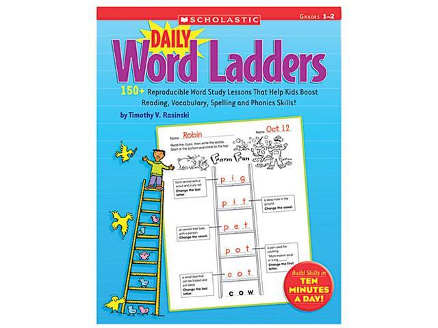 Scholastic 0545074762 Daily Word Ladders, 176 pages, Grades 1-2