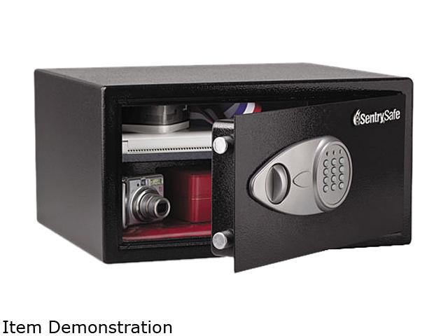 Sentry Safe X105 Electronic Lock Security Safe, 1.0 ft3, 16-15/16w x 14-9/16d x 8-7/8h, Black