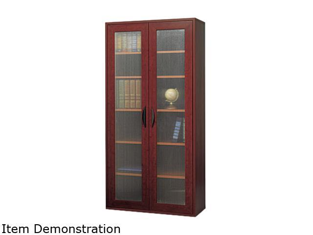 Safco 9443MH Après Tall Two-Door Cabinet, 29-3/4w x 11-3/4d x 59-1/2h, Mahogany