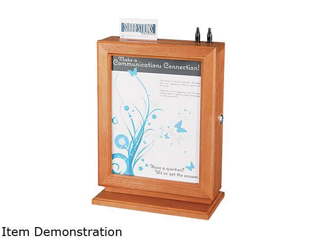 Safco 4236CY Customizable Wood Suggestion Box, 10 1/2 x 13 x 5 3/4, Cherry