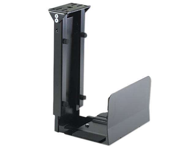 Safco 2176 Ergo-Comfort Fixed-Mount Under Desk CPU Holder, 7w x 9-1/2d x 14h, Black