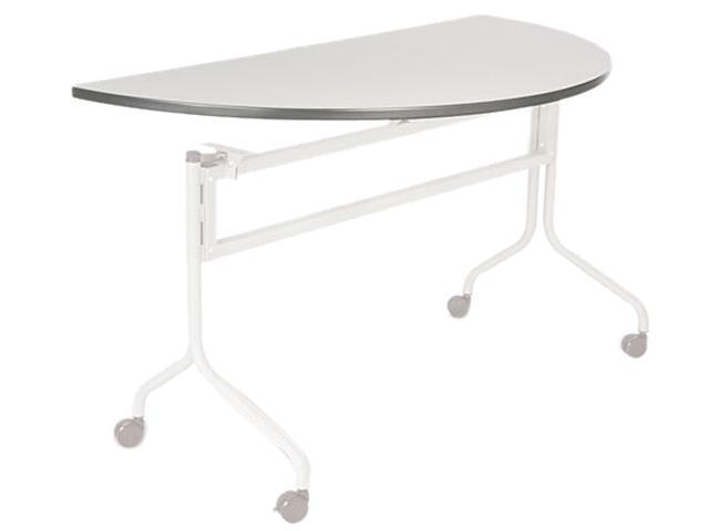 Safco 2068GR Impromptu Mobile Training Table Top, Half Round, 48w x 24d, Gray
