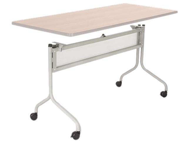 Safco 2031SL Impromptu Mobile Training Table Base, 49-1/4w x 24d x 28h, Silver