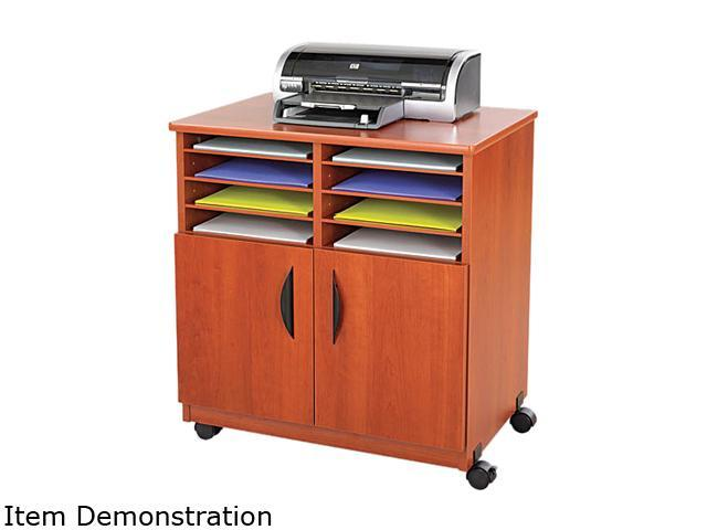 Safco 1851CY Laminate Machine Stand w/Sorter Compartments, 28w x 19-3/4d x 30-1/2h, Cherry