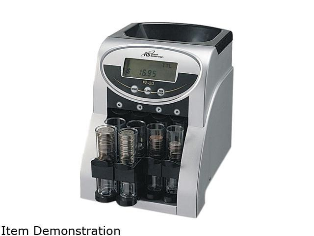 Royal Sovereign FS-2D Fast Sort FS-2D Digital Coin Sorter, Pennies Through Quarters
