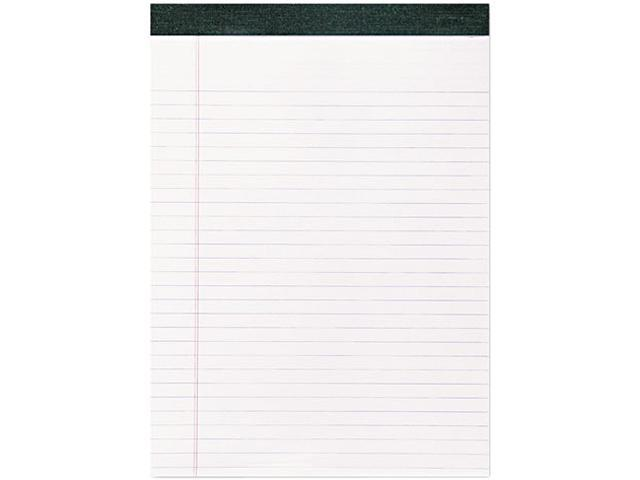 Roaring Spring 74713 Recycled Legal Pad, 8 1/2 x 11 3/4 Pad, 8 1/2 x 11 Sheets, 40/Pad, White, Dozen