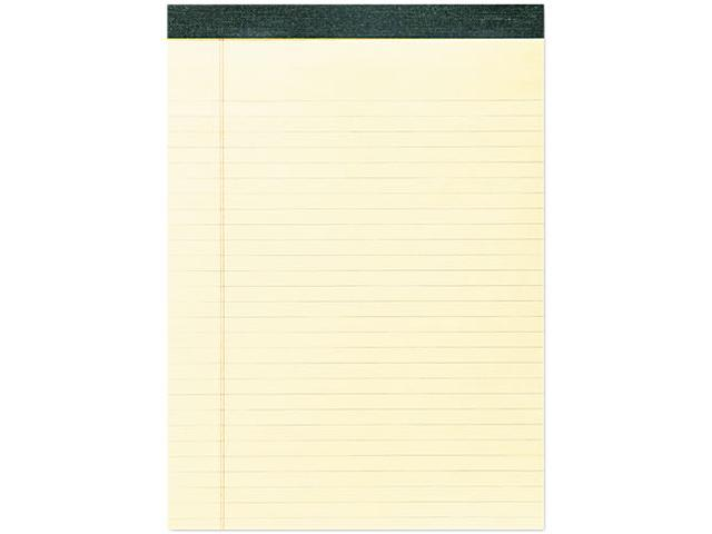 Roaring Spring 74712 Recycled Legal Pad, 8 1/2 x 11 3/4 Pad, 8 1/2 x 11 Sheets, 40/Pad, Canary, Dozen