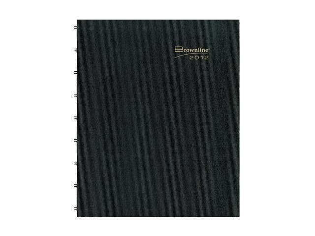 Blueline CF1512C81 MiracleBind 17-Month Academic Planner, Hard Cover, 11 x 9-1/16, Black, 2015-2016